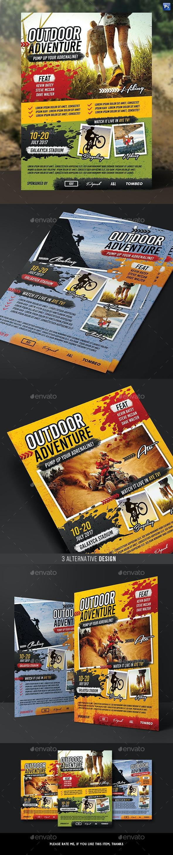 Outdoor Sport Adventure Flyer - Sports Events