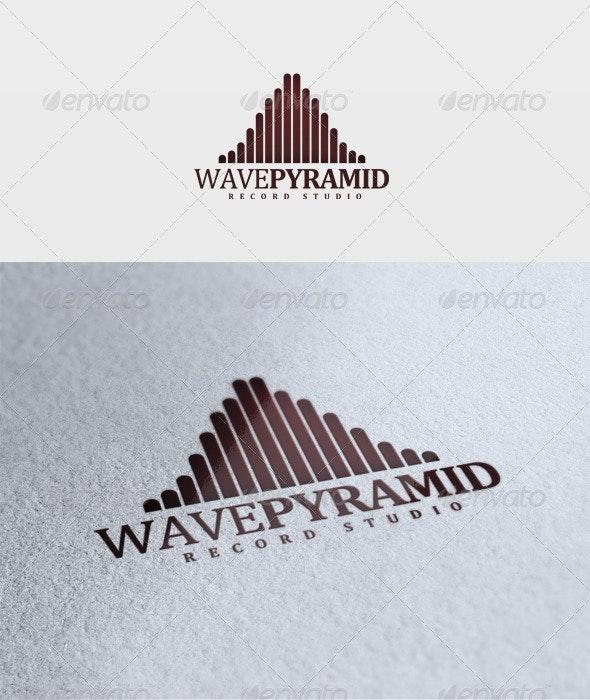 Wave Pyramid Logo - Vector Abstract