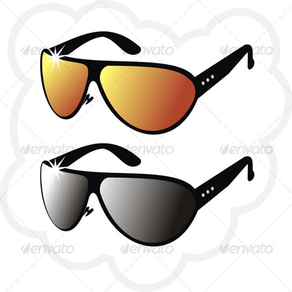 The pair of mirror's sun glasses
