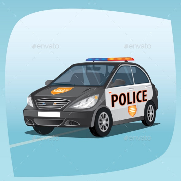 Isolated Patrol Car - Man-made Objects Objects