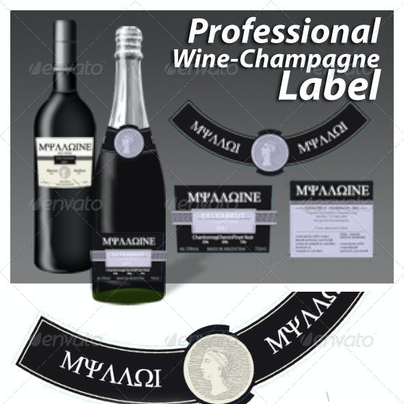 Professional Wine Champagne Labels