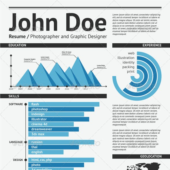 Simple vector template for you resume