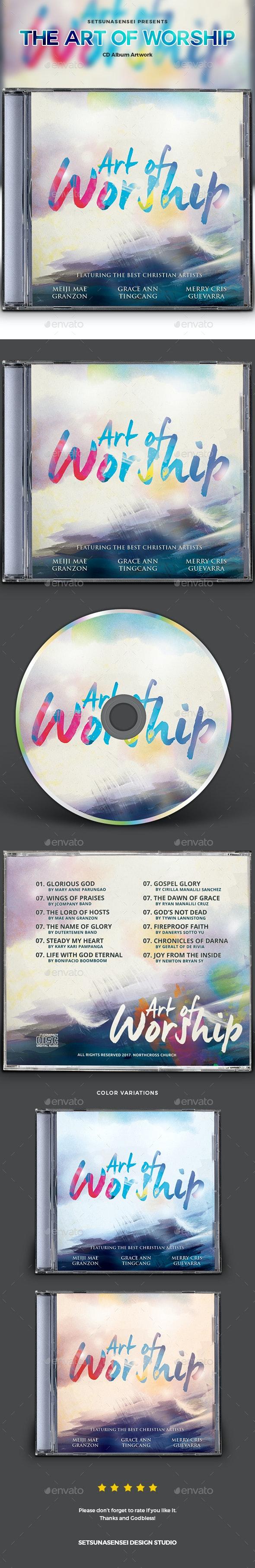The Art of Worship CD Album Artwork - CD & DVD Artwork Print Templates