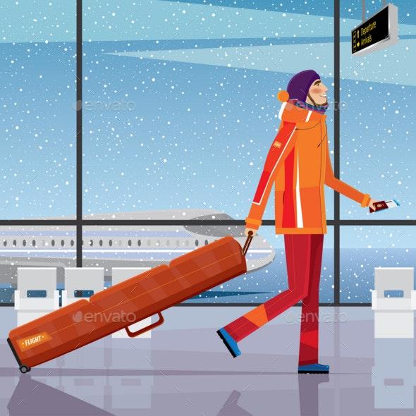 Trip To the Ski Resort - Sports/Activity Conceptual