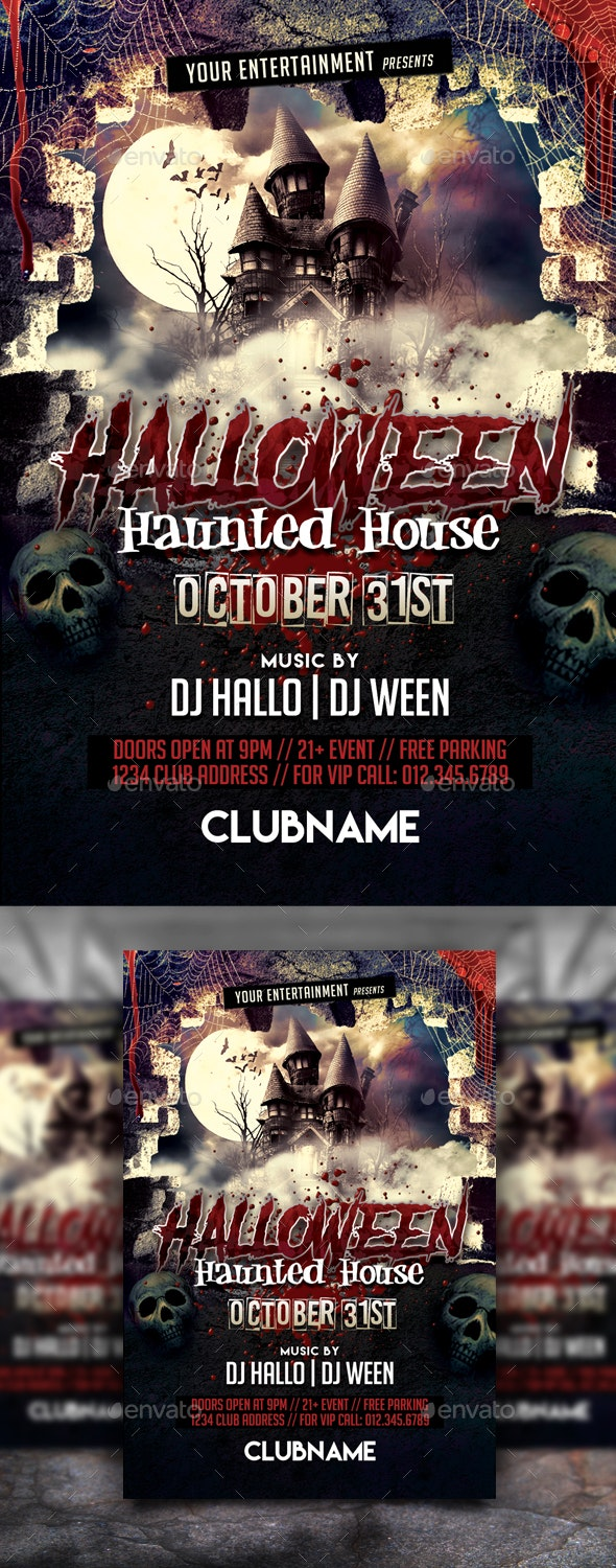 Halloween Haunted House - Events Flyers