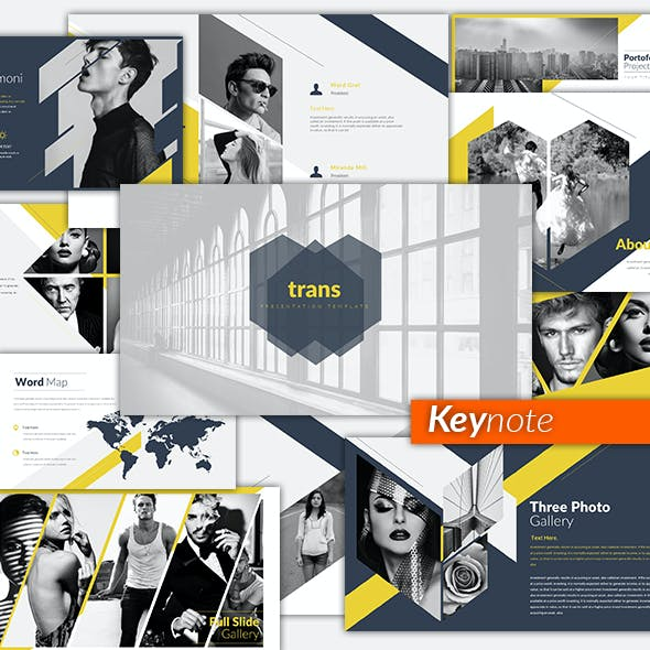 Trans Creative Keynote Templates