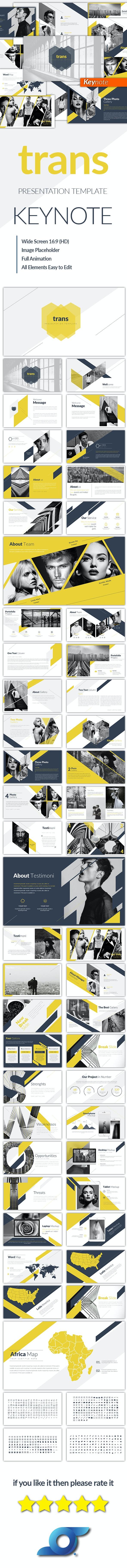 Trans Creative Keynote Templates - Abstract Keynote Templates