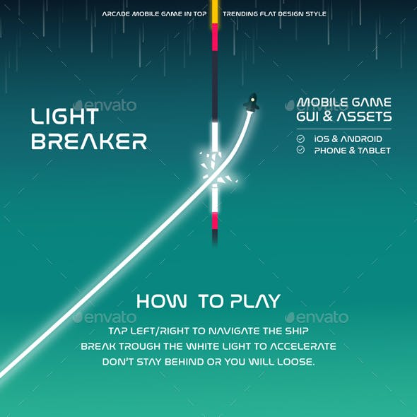 Light Breaker Full Arcade Game Kit