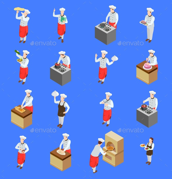 Cook Characters Icon Set - People Characters
