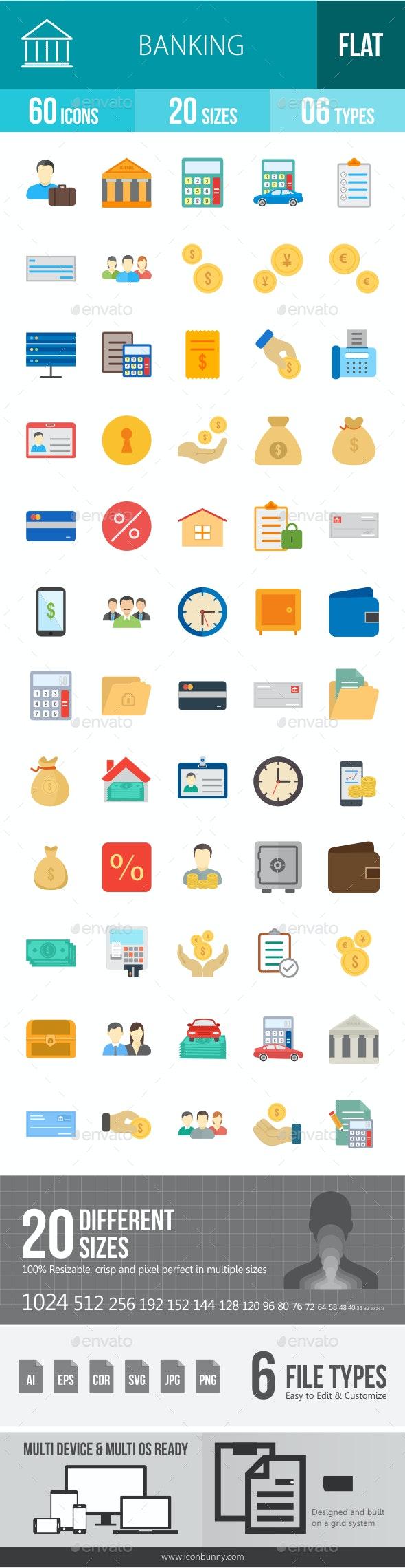 Banking Flat Icons - Icons