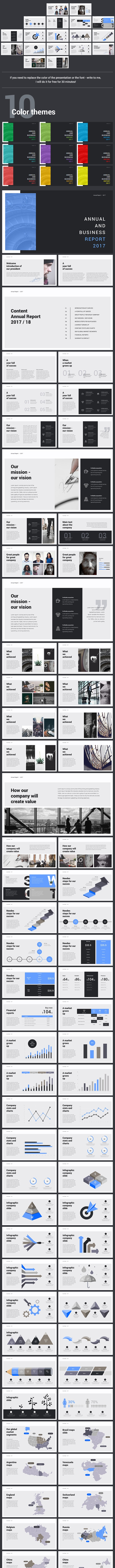 Annual and Business Report Powerpoint 2018 - Finance PowerPoint Templates