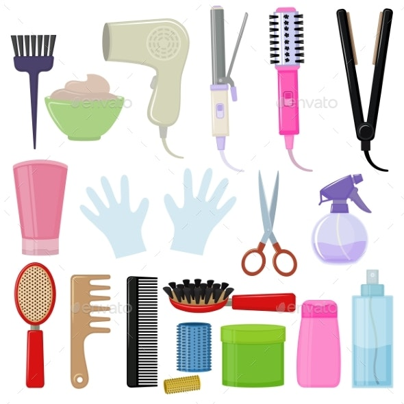 Tools and Hair Care Products - Man-made Objects Objects