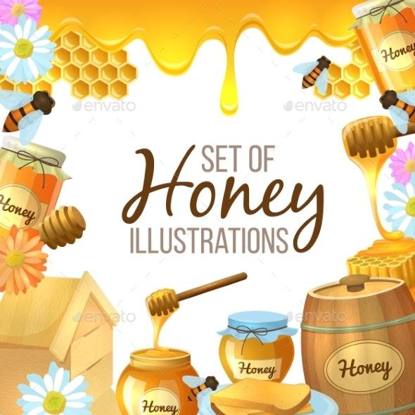 Set of Honey Illustration - Food Objects