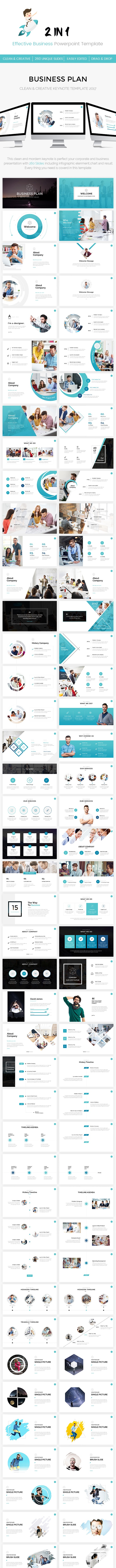 Bundle 2 in 1 Effective Business KeynoteTemplate - Business PowerPoint Templates