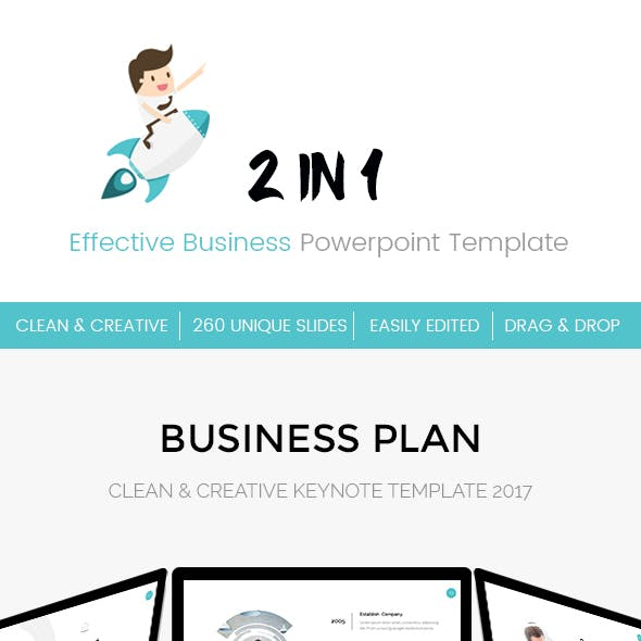 Bundle 2 in 1 Effective Business KeynoteTemplate
