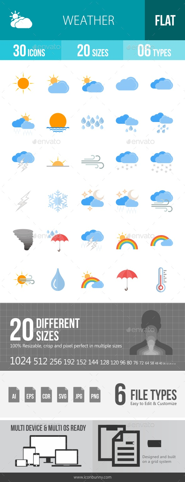 Weather Flat Icons - Icons