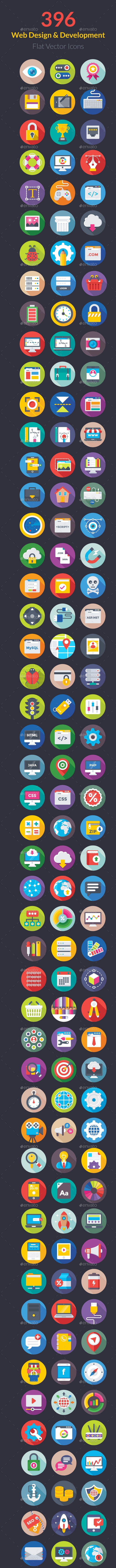 396 Web Design and Development Icons - Icons