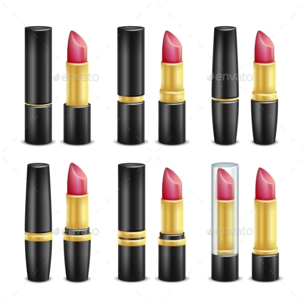 Lipstick Set Vector - Man-made Objects Objects