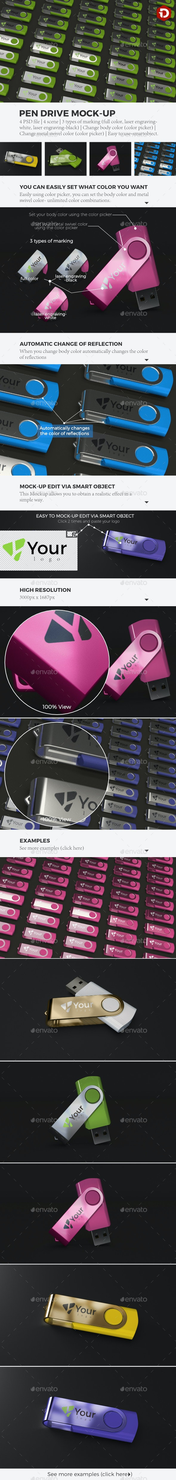 Pen Drive MockUp - Miscellaneous Product Mock-Ups