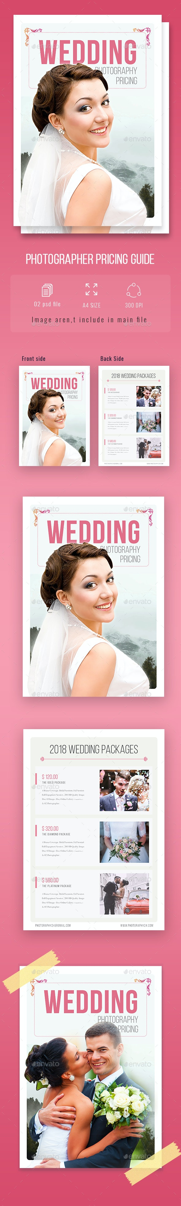 Wedding Photography Price Guide - Flyers Print Templates