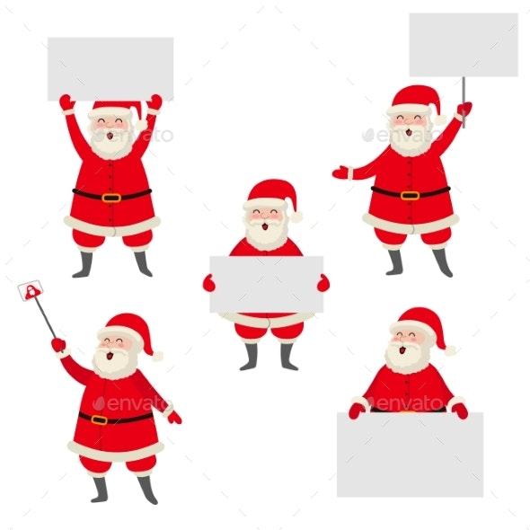 Cartoon Santa Claus - Christmas Seasons/Holidays