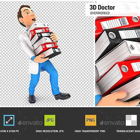 3D Doctor Overworked