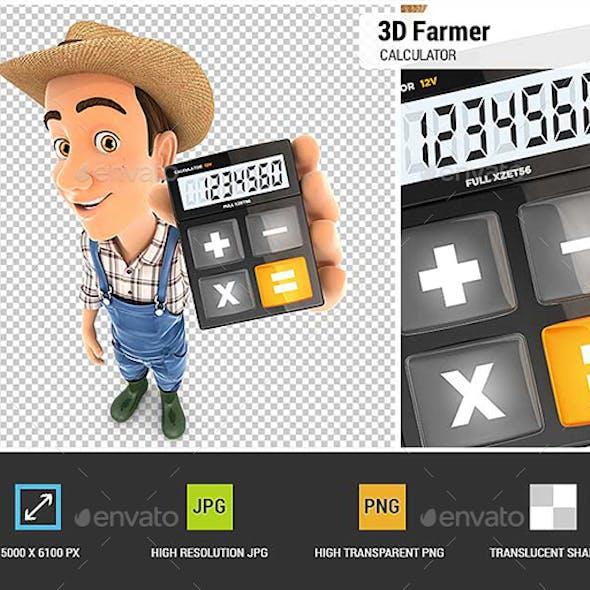 3D Farmer Holding Calculator