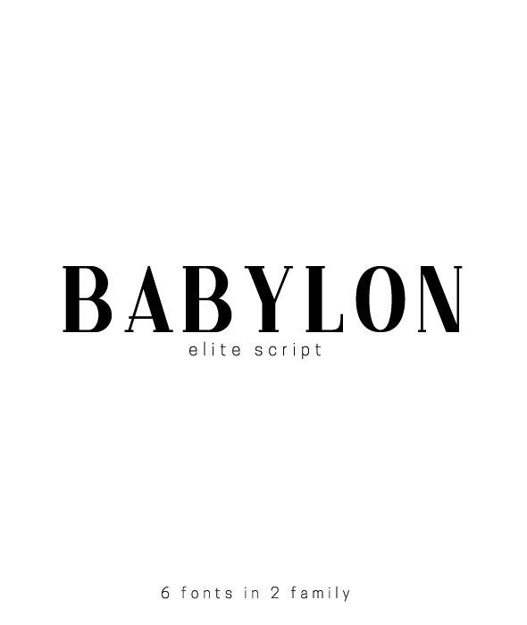 Babylon. Pack of 6 fonts - Serif Fonts