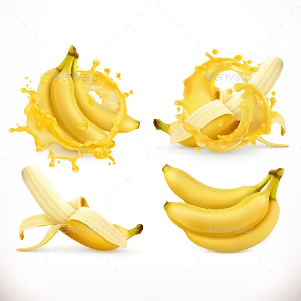 Banana Juice - Food Objects