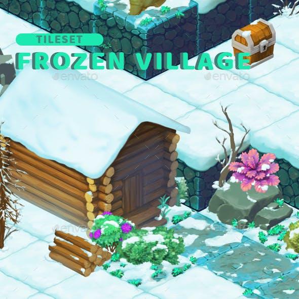 Frozen Village - Isometric Block Tileset