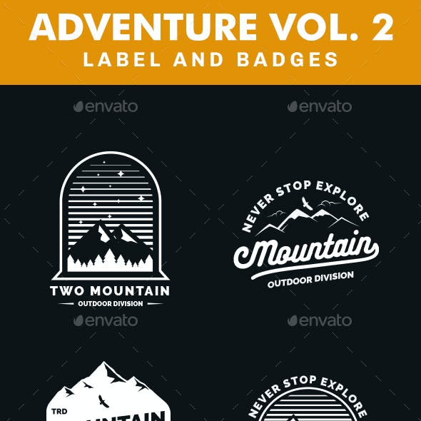 Adventure Logo and Badges Vol 2