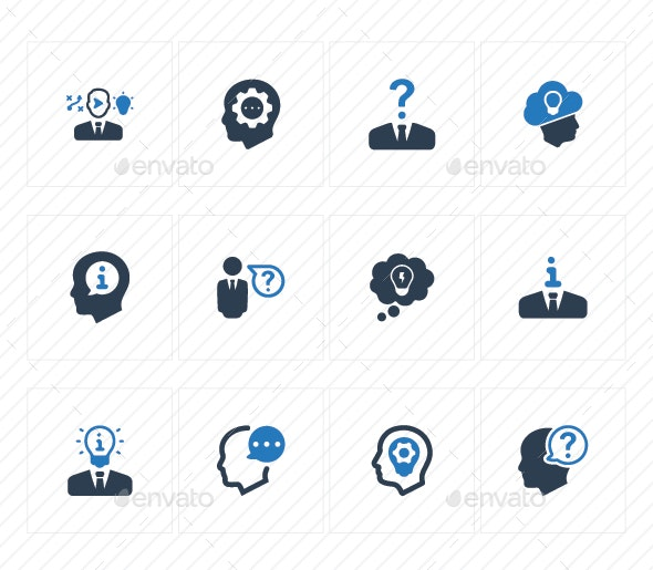 Business Idea Icons (Blue Version) - Business Icons