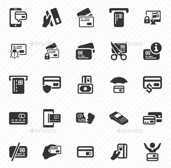 Credit Card Icon - Gray Version - Business Icons