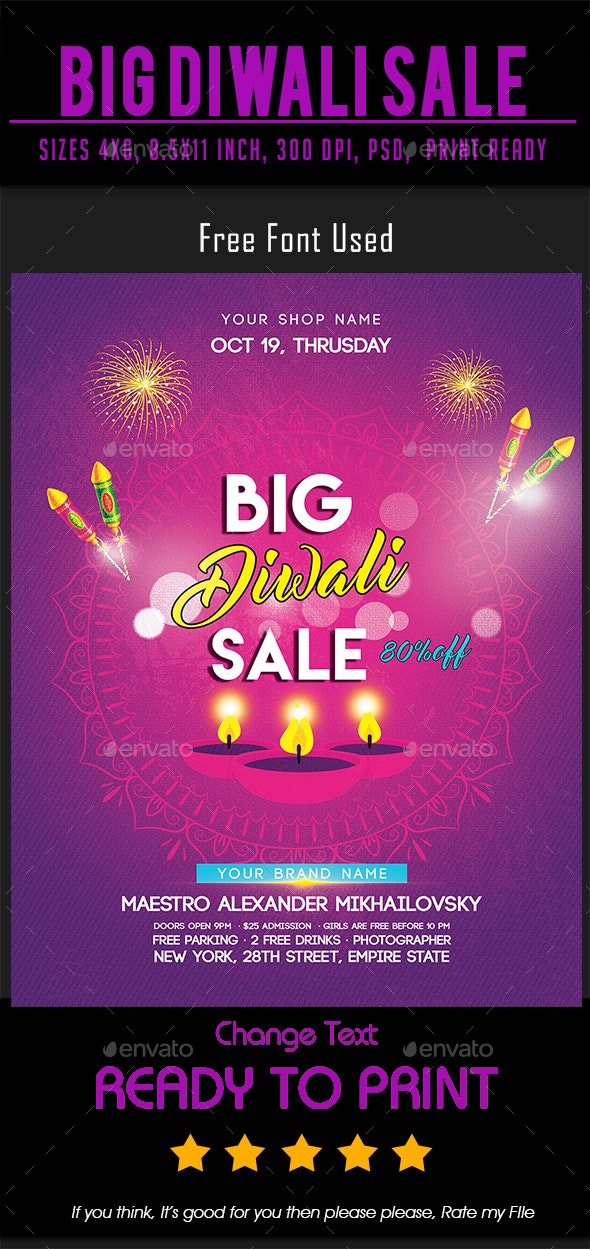 Big Diwali Sale Flyer - Events Flyers