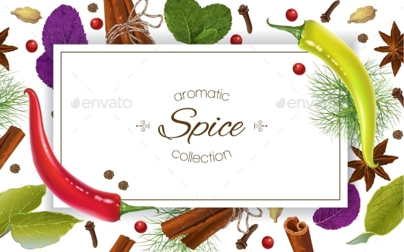 Spice Horizontal Banner - Food Objects