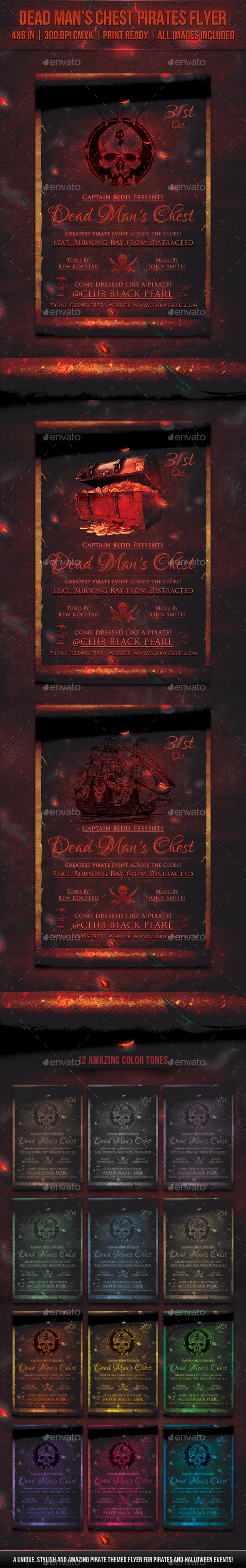 Dead Man's Chest Pirates Flyer - Miscellaneous Events