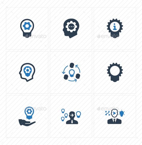 Idea Development Icons - Blue Version - Business Icons
