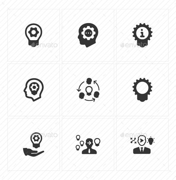 Idea Development Icons - Gray Version - Business Icons