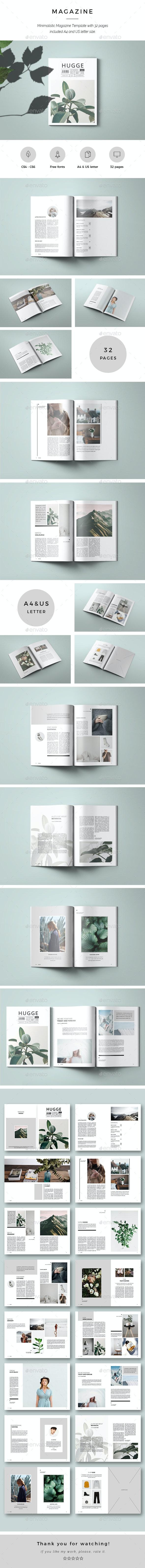 Hugge Minimal Magazine - Magazines Print Templates