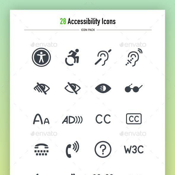 28 Accessibility Icons