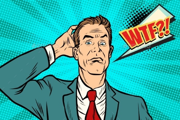 Wtf Businessman Puzzled and Confused - Concepts Business