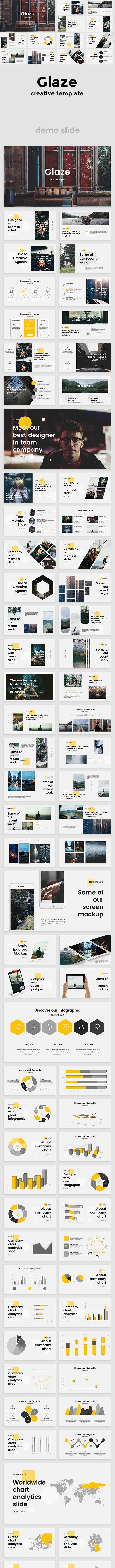 Glaze Creative Powerpoint Template - Creative PowerPoint Templates
