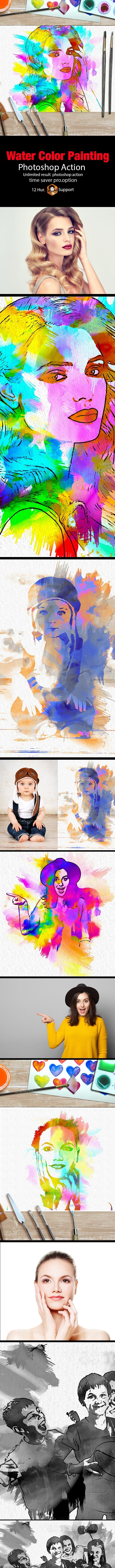 Water Color Painting - Actions Photoshop