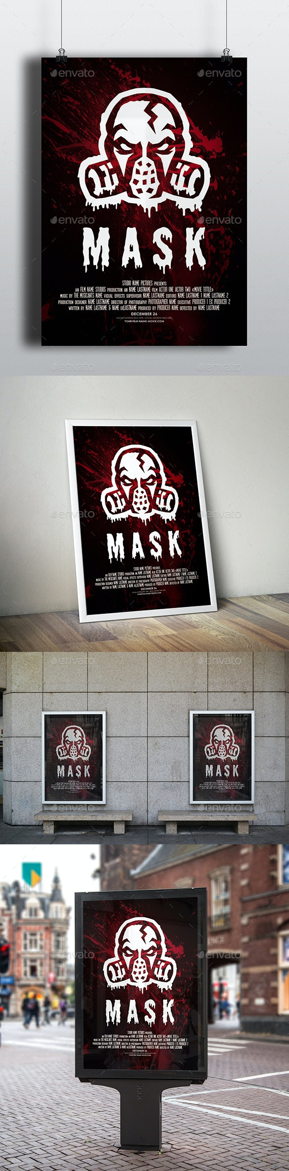Mask - Horror Thriller Movie Poster - Miscellaneous Events