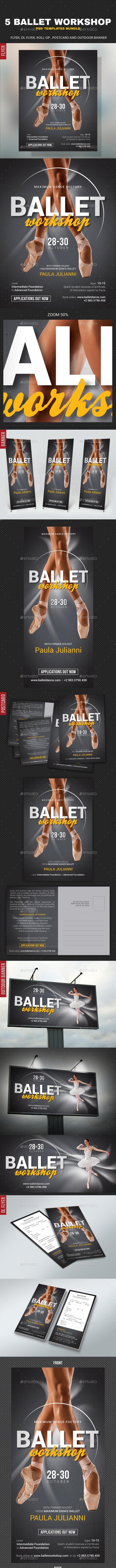 Ballet Workshop Bundle - Signage Print Templates