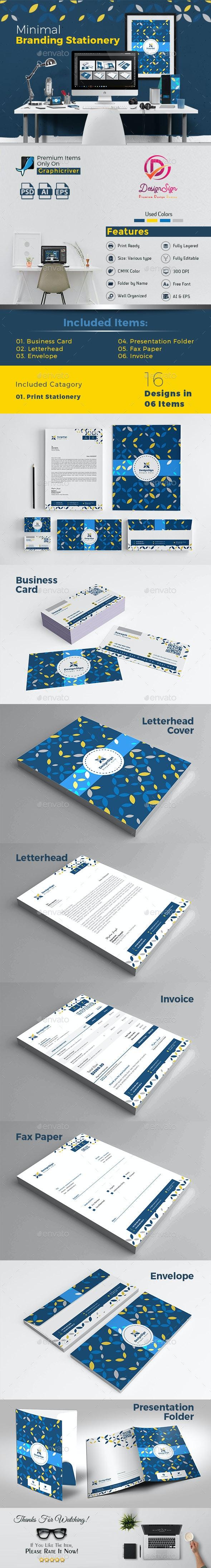 Minimal Branding Stationery - Stationery Print Templates