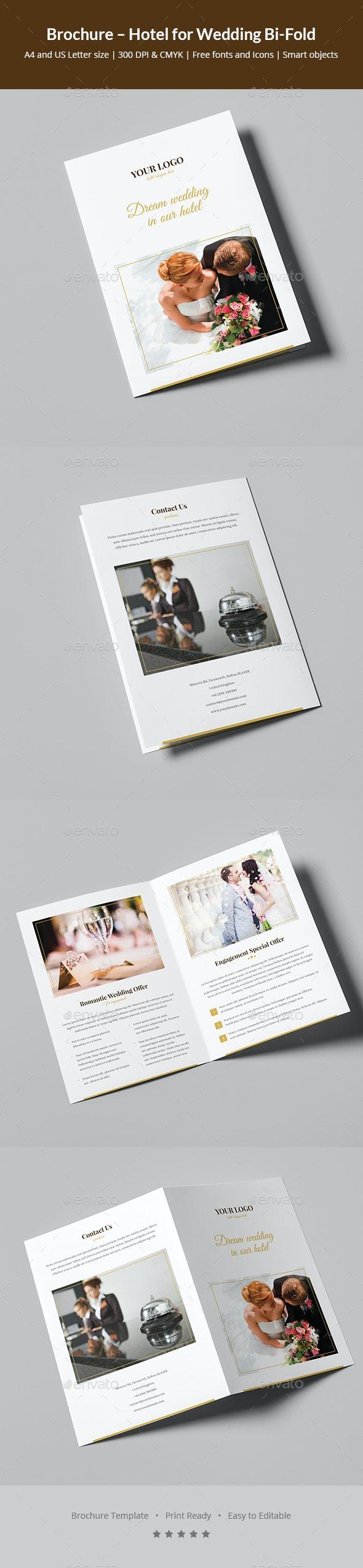 Brochure – Hotel for Wedding Bi-Fold - Informational Brochures