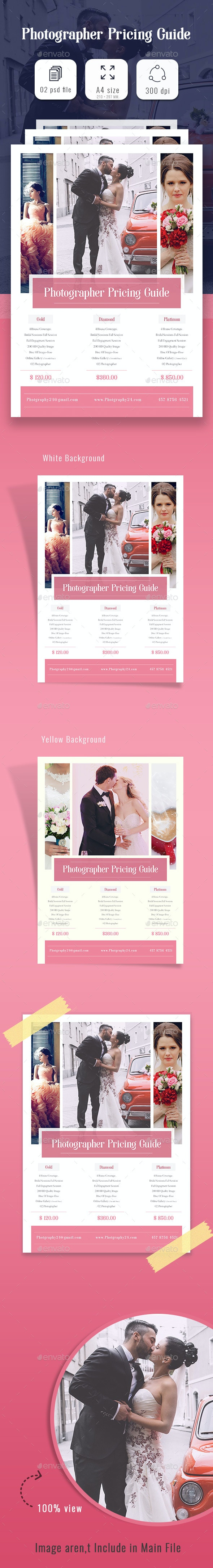 Photographer Price Guide - Flyers Print Templates