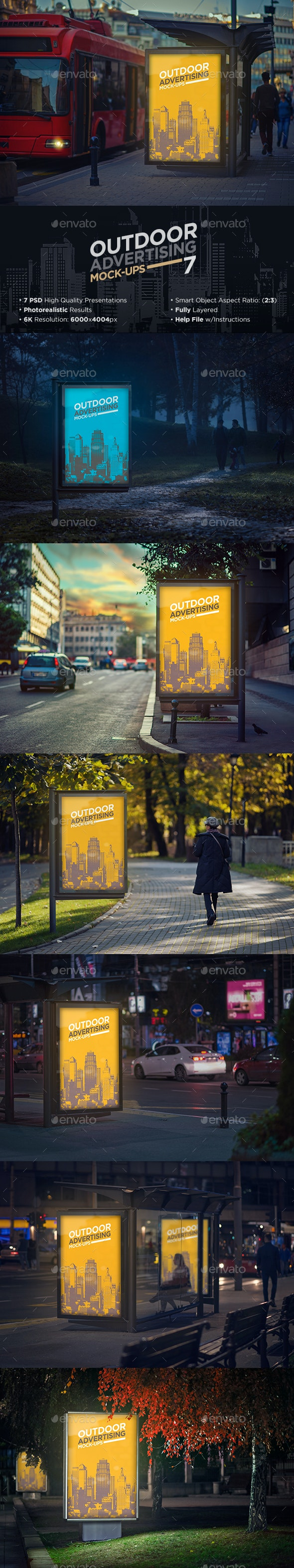 Outdoor Advertising Mock-Up - Signage Print
