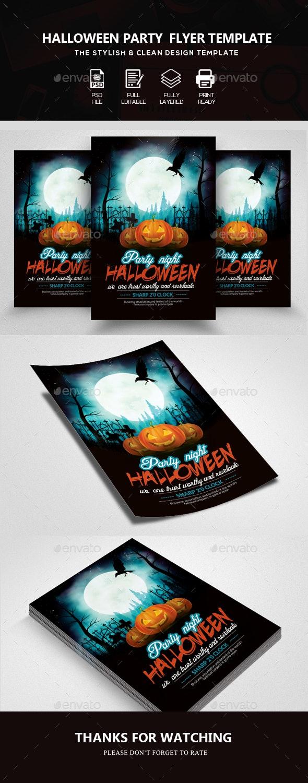 Halloween Flyer  Template - Clubs & Parties Events